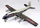 1950 United Airlines DC-7 Mainliner N311225 Toy Airplane Nomura Japan