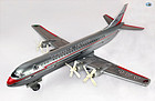 American Airlines Airliner 5024 Prop Engine Tin Toy Airplane Japan