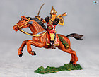 Excellent Vintage Elastolin Mounted Mongol Hun with Horn and Sword