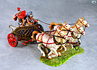 Vintage Elastolin Roman Soldiers on Chariot with Horses in Action