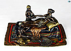 Anton Chotka Cold Painted Bronze Statue of Exotic Maiden with Servants