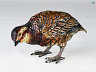 Antique 1900 Vienna Cold Painted Large Bird Bronze Statue
