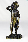 Marked 'M' Franz Bergman Geschützt 'Indian Chief' Vienna Bronze Statue