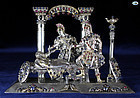 18th Century Antique Silver Sculpture of St. Thomas Becket's Murder