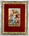 Vienna 1800 Signed Forster Antique KPM Enamel Painting on Porcelain