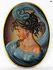1821 Bradley & Hubbard, B&H Marked Colored Bronze Portrait Plaque