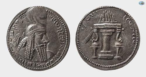 SASANIAN KINGS. ARDASHIR I. AD. 223/4-240. SILVER DRACHM Coin