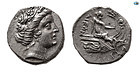 EUBOIA, HISTIAIA. 3RD-2ND CENTURIES BC. AR TETROBOL Coin