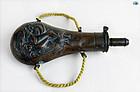 """Civil War 1850 U.S. """"Peace"""" Flask by American A.M Flask & Cap Co"""
