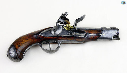 Antique Revolutionary French Flintlock Gendarmerie Pistol