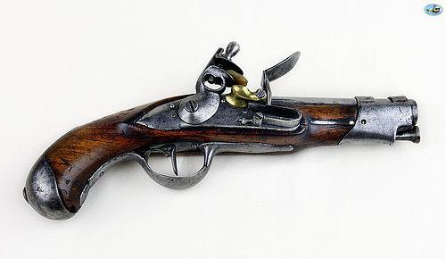 Antique Revolutionary French Flintlock Gendarmerie Pistol