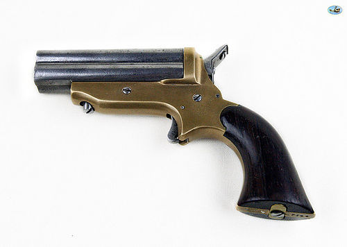 Antique 1840 Sharps 4-Barrel Pepperbox Pistol with Brass Frame