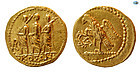 ANCIENT THRACIAN SCYTHIAN COSON, AFT 54 BC, GOLD STATER