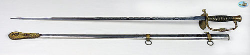 Amazing 1860 U.S. Model 1860 Staff & Field Officer's Sword