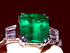 Colombian Emerald-Diamond Ring 18K. White Gold