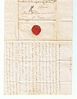 Letter from Duchess Richelieu with crest/seal July 1797