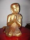 Gilt, Large Wooden Disciple-Monk, 19th Century