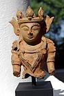 Mounted ARAKAN Bronze Buddha. 16/17th Century