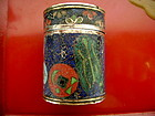 Antique Chinese Cloisonne OPIUM Box, Qing Dynasty