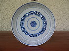 Blue & White Rice Grain Pattern Porcelain TRAY, Qing