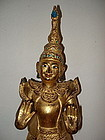 Museum Quality Gilt Wooden Burmese Nat, 19th Century