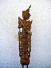 Thai wooden stylized Guardian Angel, 19th Century