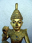 "2 Large Burmese Gilt ""U Tint De"" Nats, 19th Century"