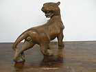 Hand Carved Wooden Panther/Jaguar with compartment