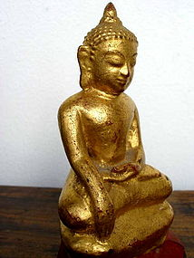 Bronze Shan State Gilded Buddha, 19th Cent., Burma
