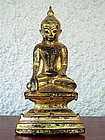 SHAN STATE Seated Bronze Buddha in Lotus Position