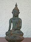 Shan Bronze Buddha subduing Mara, 18/19th Century