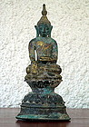 Shan State Bronze Buddha subduing Mara, 17/18th Cent.