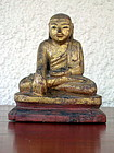 Gilded Wooden Hand Carved Buddha subduing Mara