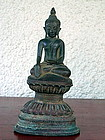 Bronze Buddha subduing Mara, SHAN State, Burma