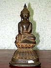 SHAN State Bronze Buddha in Lotus Position, 19th Cent.