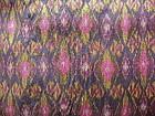 Rare 100% SILK IKAT hand woven with Gold Brocade thread
