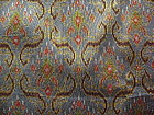 Rare 100% SILK IKAT Fabric with golden brocade thread