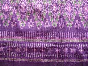 Hand woven 100% Silk Ikat Fabric
