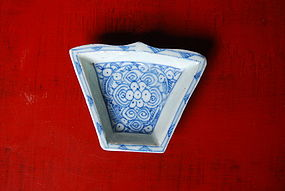 19th Century QING Blue& White Porcelain Sweet Meat Dish