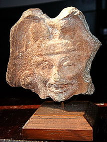 CHOLULA Mexican Terracotta Figural Head of God/Deity