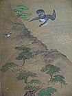 Exquisite KANO School Painting on Silk, 17th Century