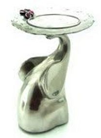 Pewter Elephant Candle Holder with Trunk up