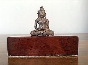 Fine Miniature Thai Bronze Dhyana Mudra Buddha