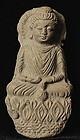KUSHAN  Terracotta Votive Buddha, 2-4th Century AD.