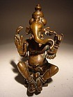 Bronze GANESHA-GANESH Sculpture, India, 18th Century