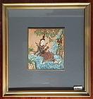 Framed THAI MINIATURE Painting of Angel