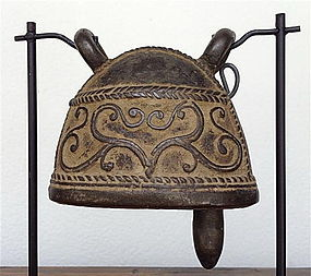 Antique Baby Elephant BRONZE BELL, 19th Cent. Burma