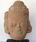 Original Red Sandstone Head Mounted 17/18th Cent