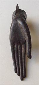 Rare Antique Thai Ayuthaya Bronze Left Hand of Buddha