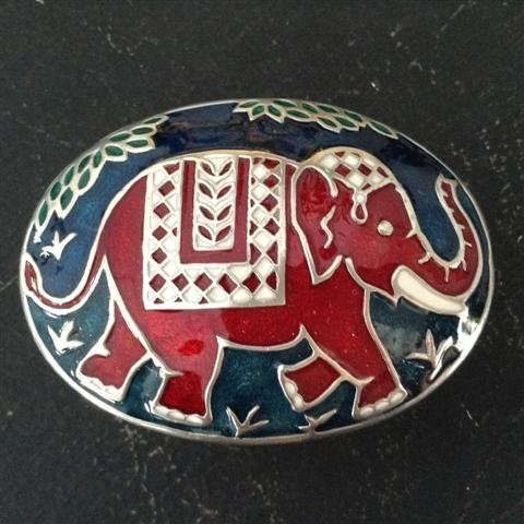 Enamel 2 Color Pewter ELEPHANT Boxes which open